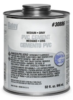 OATEY 30886 32OZ PVC GRAY CEMENT