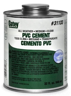 OATEY 31133 32OZ PVC ALL-WTHR CLR CEMENT