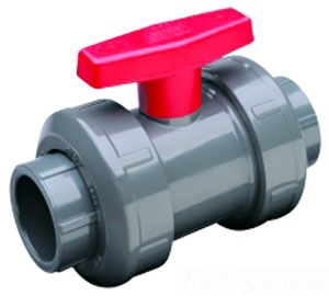 2339-020 2 PVC SS/TT TU BALL VALVE VITON - FKM TRUE UNION - SLIPxSLIP OR FIPxFIP - 235psi@73f (REGULAR STYLE)