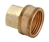 3/4FHTX3/4FPT BRASS LF SWIVEL HOSE ADAPTER HUS11-12-12X S2 LEAD FREE