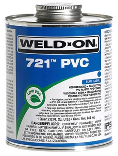 IPS WELD-ON 711-QT GRAY GLUE QUART 10119; HEAVY BODIED; MEDIUM *** FLAMMABLE LIQUID - NA1133 ***