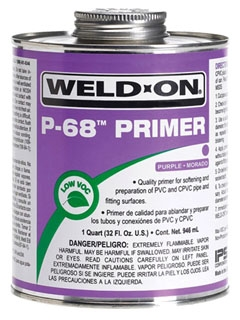 IPS WELD-ON P-68-PT PURPLE PRIMER PINT *** FLAMMABLE LIQUID - NA1133 *** 10212
