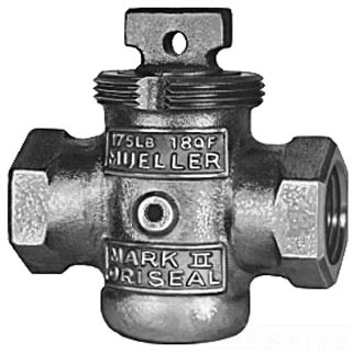 1-1/4 H-10288 MUELLER MARK II ORISEAL STOP & WASTE; FPT; MINNEAPOLIS THREAD; *LEAD FREE*