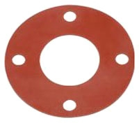 10 150# 1/8 RR FF GASKET RED RUBBER - FULL FACE