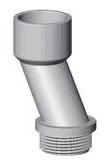 2 Inch PVC Meter Offset Nipple