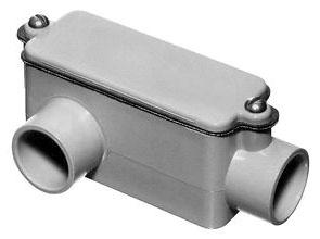 1/2 Inch PVC Type LR Conduit Body