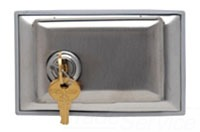 PS WPH7-L Dustproof LockingStainless Steel Cover, HorizontalSingle Receptacle Opening.