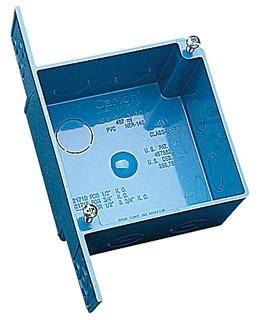 CARLON A5217DE 4IN SQ BOX W/BRKT
