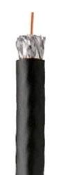 """CEC RG6/U """"QUAD SHIELD"""" COAX CABLE """"BLACK"""" JACKET 1000FT REEL (2257-SP-BK-1000)(92041-06-08)"""
