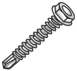 CUL 79212J TEK12075 TEK SCREW 12-14X3/4 HEX WASHER HEAD SELF DRILLING SCREW CULLY 100/JAR