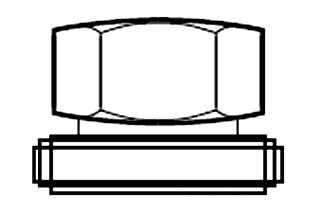 GREENLEE 1433AVBB BALL BEARING NUT (USEw/1434AV DRW STUD) FOR 3INCH KO