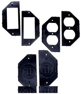 WP217 (6) INSERTS (2) EACH-DUPLEX, GFCI, TOGGLE/ ROUND 1-3/8 & 1-5/8 DIAMETER TWO GANG FLEXI GUARD