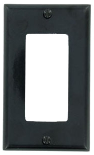 LVTN 80401-E PLATE,DECORA,1DEVICE BLACK