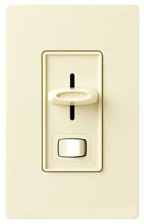 SF-10P-WH  WHITE 1 POLE PRESET FLUORESCENT SLIDE DIMMER W/ ON/OFF SWITCH