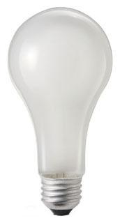 (24661-1) P-100A21/277V 100W 277V A21 FROSTED MEDIUM SCREW BASE LAMP