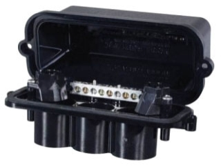 PJB2175 PLASTIC POOL/SPA LIGHT JUNCTION BOX - TWO LIGHT CAPACITY W/CONDUIT SIZES FROM .5