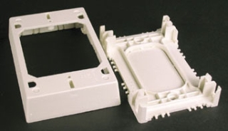 "W-MOLD 2348S/51-WH SHALLOW DEVICE WIREMOLD BOX 4-3/4"" X 3"" X 7/8"" PLASTIC FOR 400/800/2300/2300D"