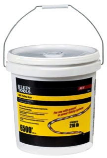 KLEIN 56110 6500ft Poly Pull Line Bucket- 210Lb Tensile Strength