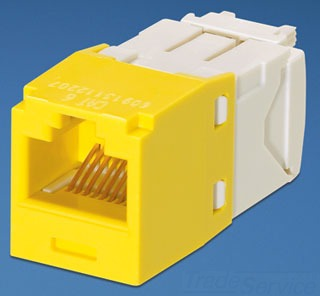 PANDUIT CJ688TGYL DATA JACK, CAT 6 YELLOW