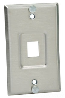 PANDUIT KWPY WALL PHONE PLATE, STAINLESS STEEL