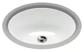 """LT577-01 (DISCONTINUED) TOTO UNDERCOUNTER 15""""X12"""" COT WHT OVAL UNDERMOUNT LAV"""