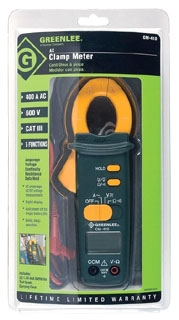 GREENLEE CM-410 400A AC CLAMP METER 600 VOLTS AC and DC and 400 AMPS AC