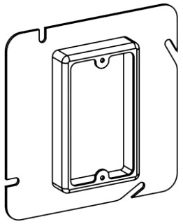 ORBT 51050 5S 1-G 1/2IN RAISED 5S STEEL DEVICE RING