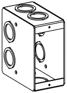 ORBT MB-1 1-G MASONRY BOX 3-1/2IN DEEP