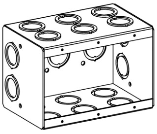 ORBT MB-3 3-G MASONRY BOX 3-1/2IN DEEP