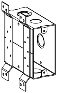 ORBT HTB-FB 4IN THRU BOX WITH BRACKET
