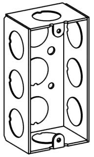 ORBT HSB-1-50 1-G HANDY BOX 1-1/2IN DEEP 1/2IN KO