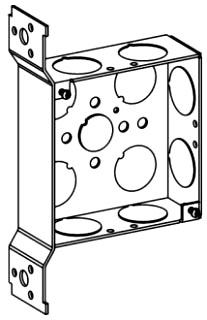 ORBT 4SB-75-FB 4S BOX 1-1/2IN DEEP + BRACKET 3/4IN KO