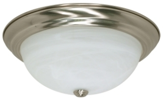 283 60-199 CEILING MOUNT 3LT BRUSHED NICKEL WITH ALABASTER GLASS 3-100M