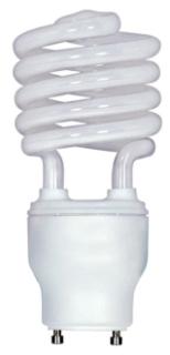 SAT S8205 18GU24/27 18W MINI SPIRAL CFL 2700K 82 CRI GU24 BASE 120V