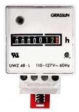 UWZ48V-24U AC HOUR METERS DIN RAIL MOUNT, SCREW TERMINALS, 24V, 60HZ