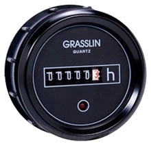 GZ52BU DC HOUR METERS 52MM ROUND FLUSH MOUNT, BLACK BEZEL, IP65, 8-30VDC