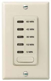EI205LA ELECTRONIC AUTO-OFF TIMER 5/15/30/45/60 MINUTE LIGHT ALMOND