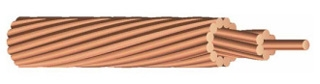 WIRE 4-7Str 4 STRANDED Soft Drawn Bare Copper 1000FT REEL
