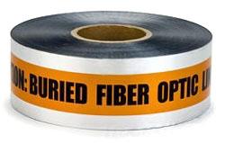"""MI 17774-45-6000 6x1000'Org UG Tape """"DETECTABLE"""" TELE/FIBER OPTIC LINE MI (fka 3M 409)"""
