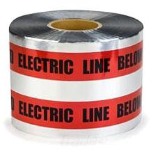 "MI 17774-79-6000 6x1000'Red UG Tape ""Detectable"" Burial Tape ""ELECTRIC LINE BELOW"" (fka 3M 408)"
