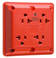 420HRED HG QUAD RECEPTACLE 20A 125V RED