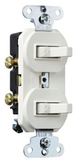 (P&S) 690W 15A 120/277V WHITE NON-GROUNDING COMBINATION SWITCHES