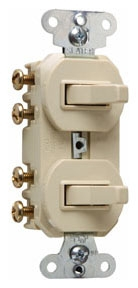 (P&S) 693I IVORY 16A 120/277V NON-GROUNDING COMBINATION SWITCHES