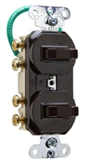 693WG  PASS & SEYMOUR COMBO 2 SWITCHES 3W 15A 120/277V