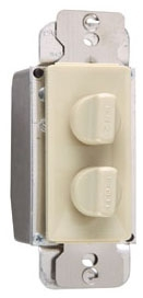 (P&S) 94315I IVORY DUAL 1.5A 120V 3 SPEED FAN CONTROL WITH 300W DIMMER