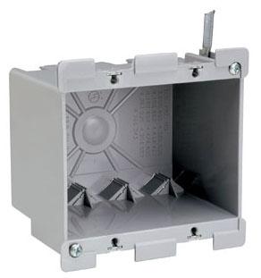P&S S2-32-W 2G PLSTC OUTLET BOX