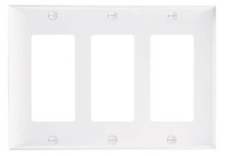 SP263-W 3-GANG WHITE BLOCK PLATE 8523-WH WH2003-WHT