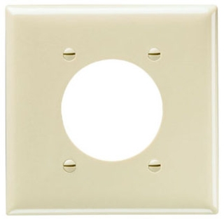 SP703 SMOOTH WALL PLATE 2G POWER OUTLET BROWN