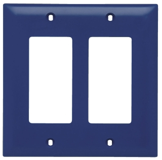 (P&S) TP262RED RED TRADEMASTER WALL PLATE 2GANG 2DECORTTOR