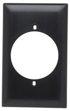 TP724 TRADEMASTER PLATE 1G POWER OUTLET BR
